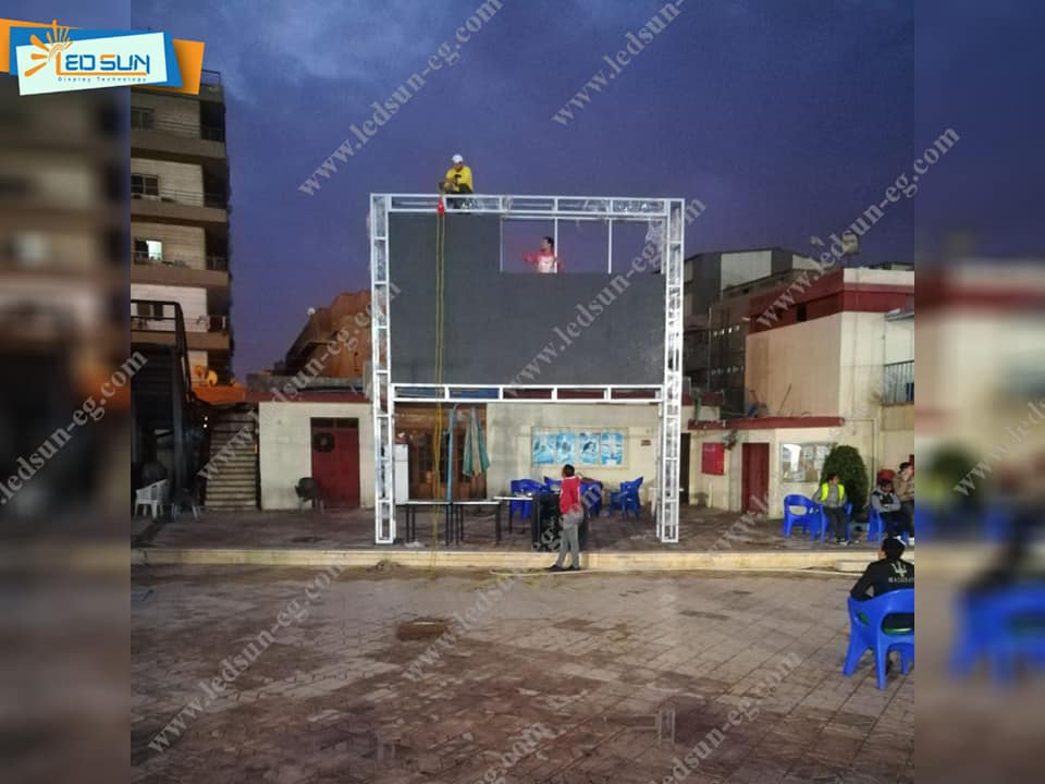 تركيب شاشه عرض فيديو عملاقه داخل نادى النصر